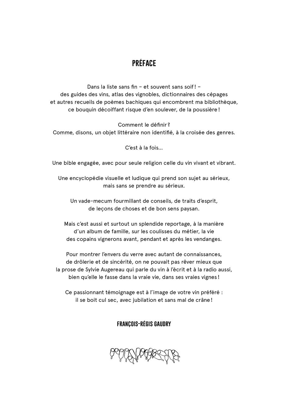 Le VIN : la préface!